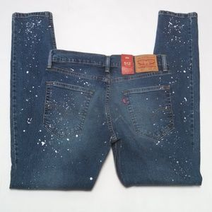 Levi's 512 Paint Splatter Jeans Slim Taper